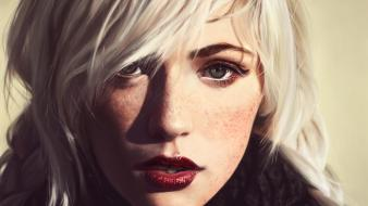 Portraits platinum blonde devon jade red lips wallpaper