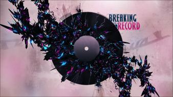 Record vinyl digital art artwork disc breaking wallpaper