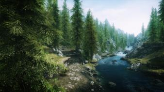 Rivers the elder scrolls v: skyrim forest wallpaper