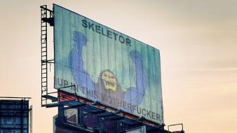 Skeletor artwork billboard Wallpaper
