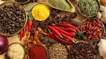 Spices chili peppers Wallpaper