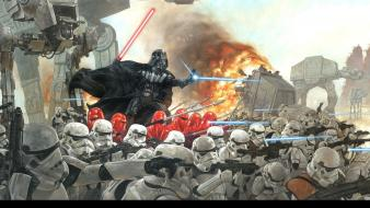 Star wars darth vader galactic empire imperial army wallpaper