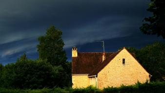 Storm houses france wallpaper
