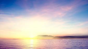 Sun clouds waterscapes wallpaper