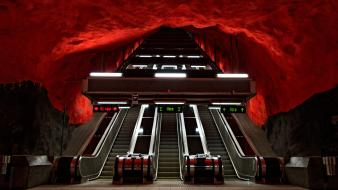 Sweden stockholm metro station wallpaper