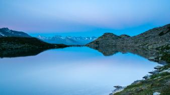 Switzerland lakes hdr photography reflections blue skies Wallpaper