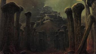 Temples artwork bones zdzislaw beksinski surreal art Wallpaper