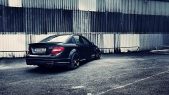 Tuned car mercedes benz c63 amg automobile wallpaper