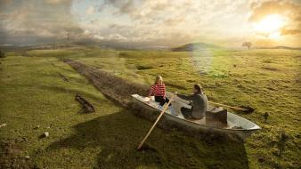 Valleys photo manipulation rowing wallpaper