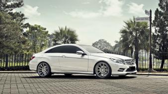 White coupe class mercedes benz Wallpaper
