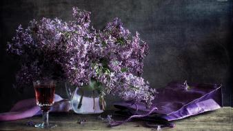 Wine lilac wallpaper