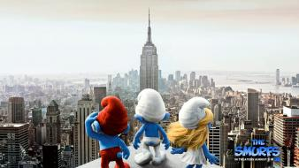 2011 the smurfs movie wallpaper