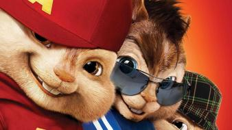 Alvin and the chipmunks squeakquel poster wallpaper