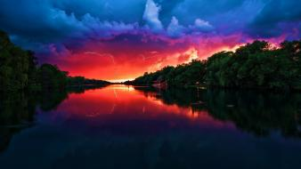 Amazing Red Sky wallpaper