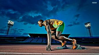 Athletes usain bolt speed wallpaper