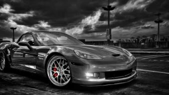 Black and white cars corvette chevy wallpaper