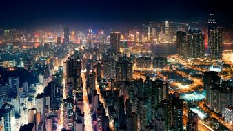 Cityscapes architecture buildings hong kong roads cities sea wallpaper