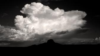 Clouds monochrome skyscapes wallpaper