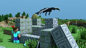Dragons steve minecraft wallpaper