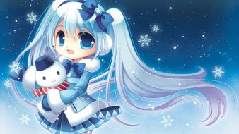 Eyes chibi jackets smiling bears white hair wallpaper