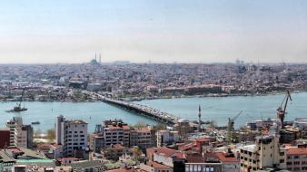 Istanbul galata tower bridge halic bogaz wallpaper