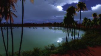 Landscapes nature night lakes wallpaper