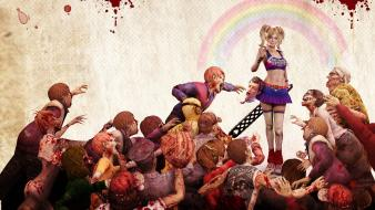 Lollipop Chainsaw Zombie Game Hd wallpaper