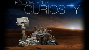Mars nasa typography technology rover exploration curiosity Wallpaper
