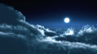Moon Over Clouds wallpaper