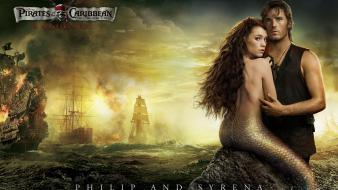 Philip And Syrena In Pirates 4 Wallpaper