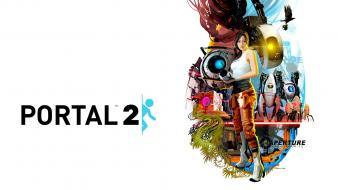 Portal 2 Characters Hd wallpaper