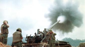 Rifles military tanks viet nam artillery firing Wallpaper