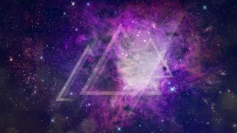 Space stars shapes triangle graphic design bright wallpaper