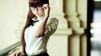 Women glasses asians wallpaper