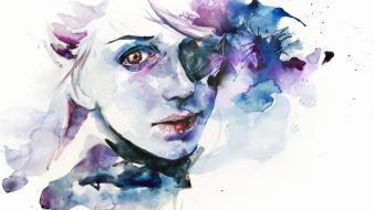 Women paintings watercolor agnes cecile Wallpaper