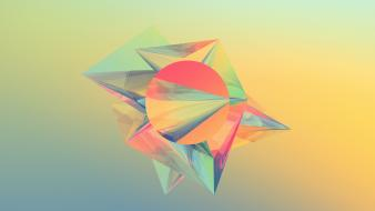 Abstract 3d forms wallpaper