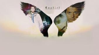 Angels supernatural castiel tv series wallpaper