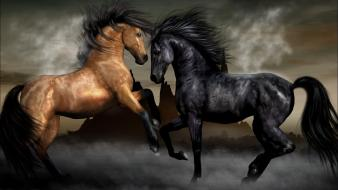 Animals horses brown black evil equestria Wallpaper