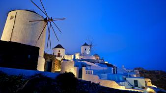Architecture buildings greece evening mediterranean wallpaper
