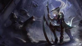 Artwork white hair diana the scorn moon wallpaper