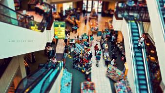 Books escalators tilt-shift stores ed mcgowan interior design wallpaper