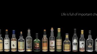 Bottles alcohol drinks Wallpaper