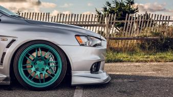 Cars mitsubishi lancer evolution rims wallpaper