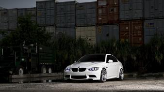 Cars parking rims headlights containers bmw m3 e92 wallpaper