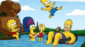 Cartoons the simpsons drawings television Wallpaper