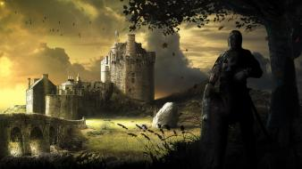 Castles fantasy art wallpaper