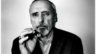 Celebrity monochrome actors cigars dennis hopper r.i.p wallpaper