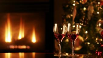 Christmas wine wallpaper