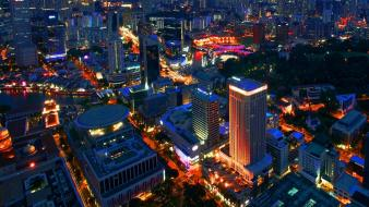 Cityscapes night singapore Wallpaper