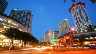 Cityscapes singapore low-angle shot wallpaper